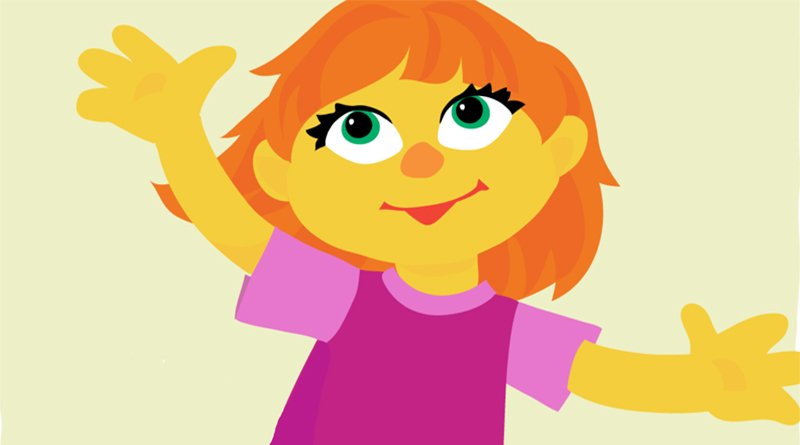 "Sesame Street's autistic character ""Julia"", by Marybeth Nelson"