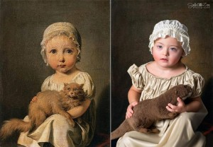"Iris as ""Gabrielle Arnault as a Child"" by Louis-Léopold Boilly (Image courtesy of Soela Zani)"