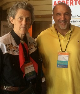 Dr. Temple Grandin (left) and Harold Reitman, M.D. (right)