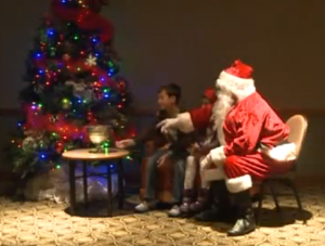 Children meet with Santa / photo courtesy Fox 13 Now
