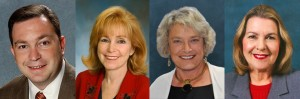 From left to right: Sen. Jeremy Ring, Sen. Eleanor Sobel, Sen. Nancy Detert, Sen. Dorothy Hukill