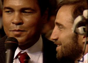 Hackie Reitman interviewing Muhammad Ali