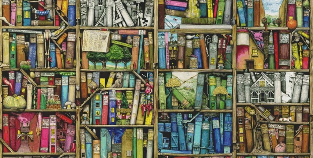 """Bookshelf"" by Colin Thompson"