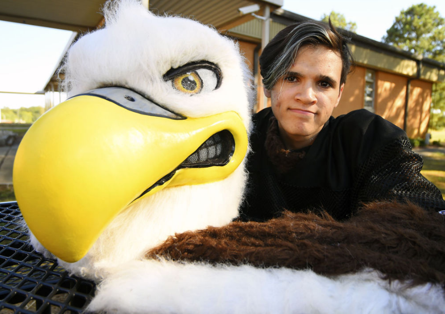 Josh Eryou as Rocky the Eagle (photo: William T. Martin / Decatur Daily)