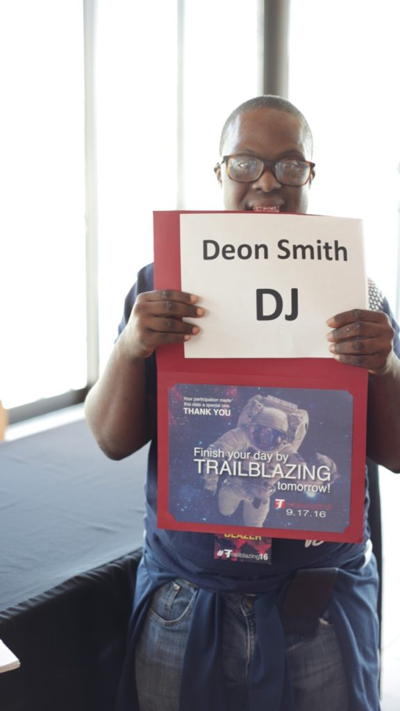 DJ Deon Smith, a young entrepreneur at Trailblazing 2016