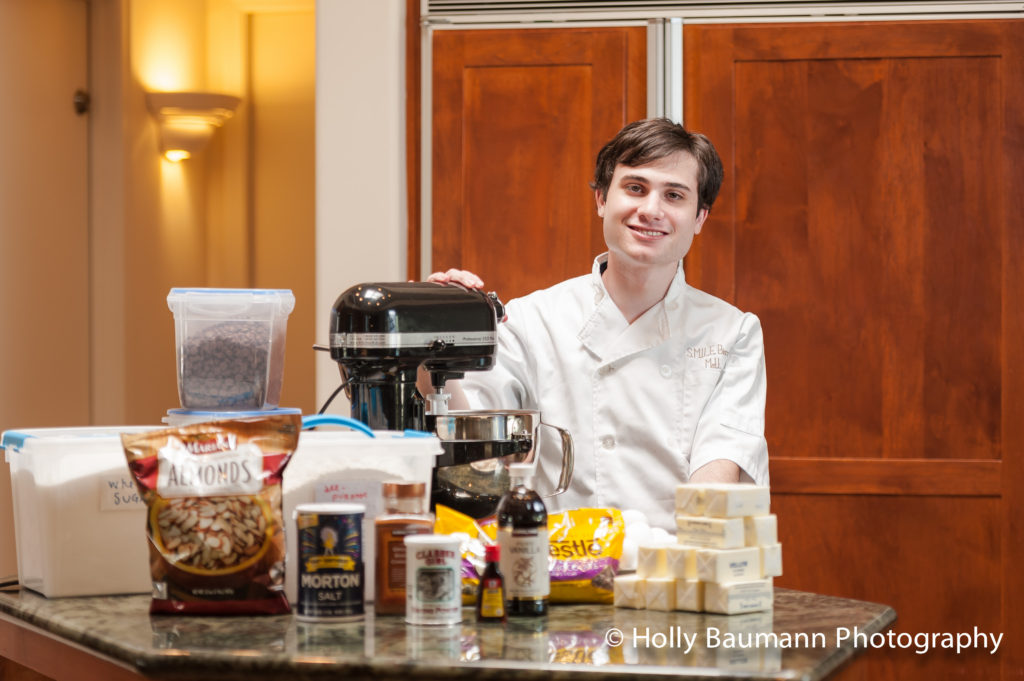 Matt Resnik in the SMILE kitchen (photo by Holly Baumann)
