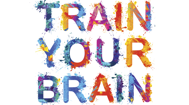 Rainbow Splash Paint Quote.  Train Your Brain.