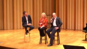 Photo - Tim and Karen on stage with Roger Love