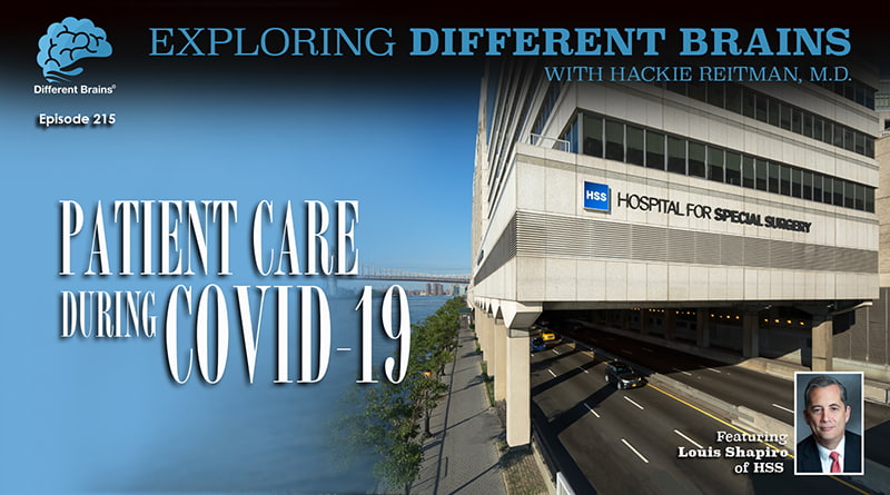Patient Care During COVID-19, With Louis A. Shapiro Of HSS | EDB 215