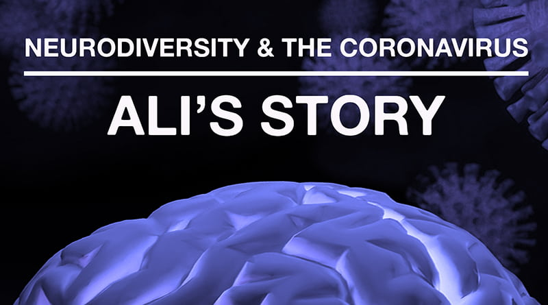 Featured Brain And Virus Image For Ali's Coronavirus Story