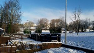 Lesley's photo os a snow-covered Northern Ireland
