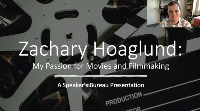 """Cover Image - """"My Passion For Movies & Filmmaking"""" By Zachary Hoaglund 